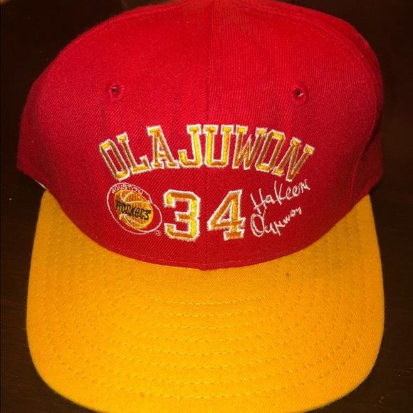51fdf184a981d VINTAGE NBA Hakeem Olajuwon Houston Rockets Hat